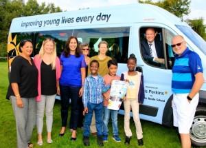 Variety Club Bus and Children